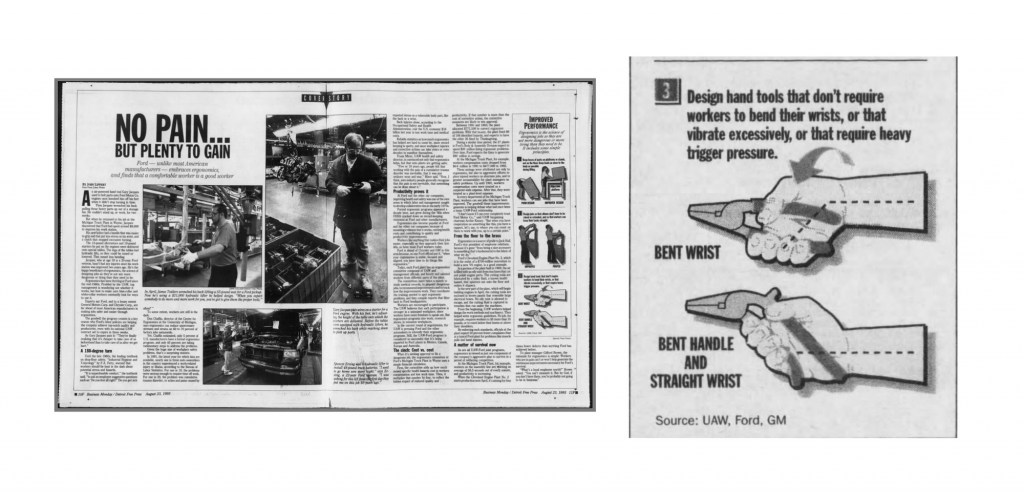 ergonomics in newspaper
